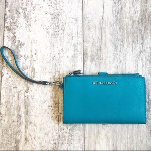Michael Kors Bags - Michael Kors Adele Leather Smart Phone Wristlet